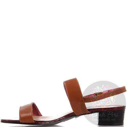 Босоножки Nuovi Artigiani из натуральной кожи рыжего цвета, фото