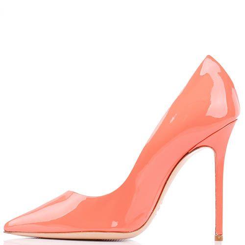 Туфли-лодочки Renzi из лаковой кожи розово-персикового цвета, фото