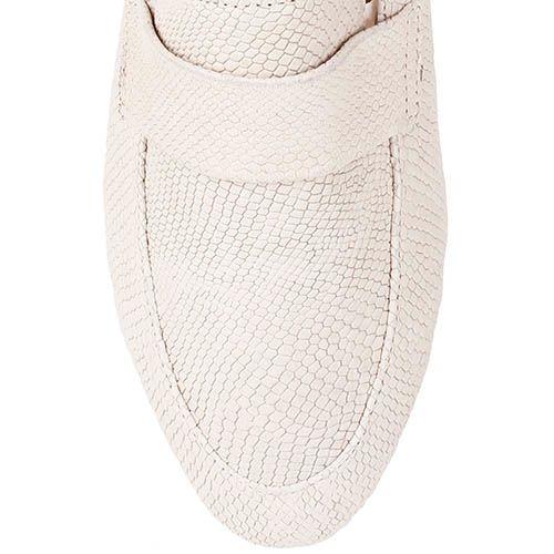 Туфли-лоферы Renzi из кожи молочного цвета, фото