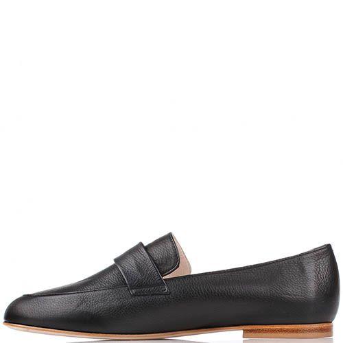 Туфли-лоферы Renzi из кожи черного цвета, фото