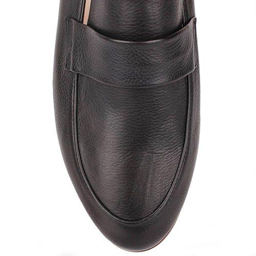 Туфли-лоферы Renzi из натуральной кожи черного цвета, фото