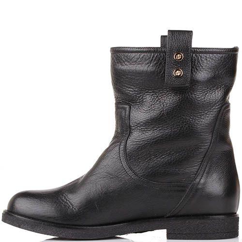 Зимние ботинки Renzi из натуральной кожи черного цвета, фото