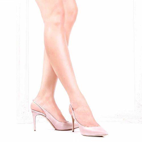 Босоножки Casadei розового цвета с перламутровым блеском, фото