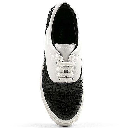 Женские кеды Modus Vivendi черно-белые кожаные, фото