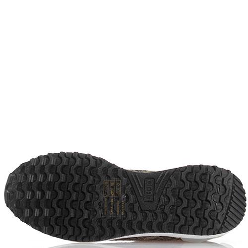 Кружевные кроссовки Liu Jo без шнуровки цвета хаки, фото