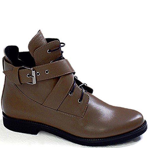 Демисезонные ботинки Modus Vivendi из кожи коричневого цвета, фото