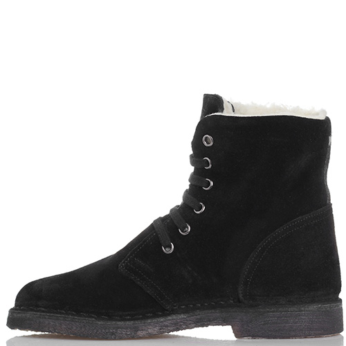 Зимние замшевые ботинки Gianni Famoso черного цвета, фото
