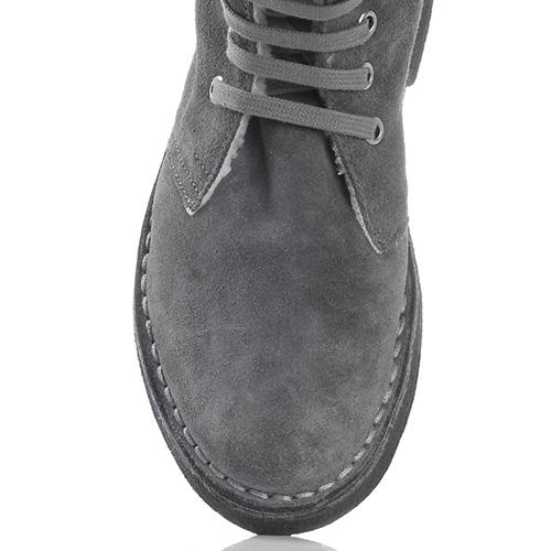 Зимние замшевые ботинки Gianni Famoso серого цвета, фото