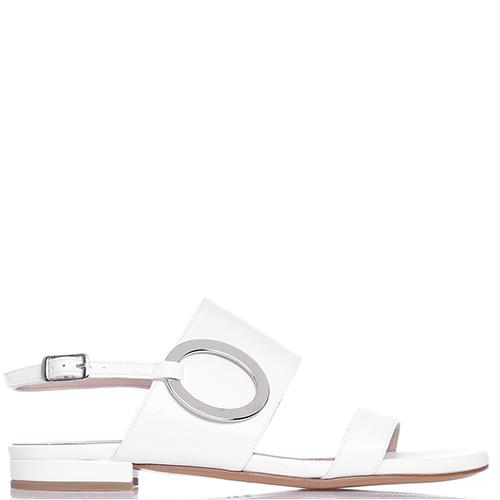 Сандалии Albano белого цвета, фото