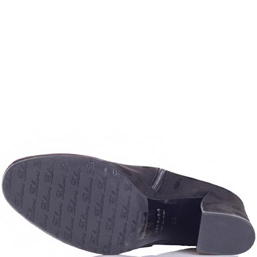 Замшевые сапоги Giovanni Fabiani черного цвета, фото