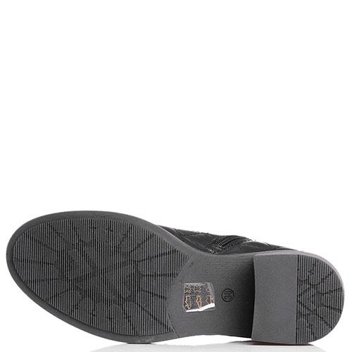 Стеганные ботинки Tine's черного цвета, фото