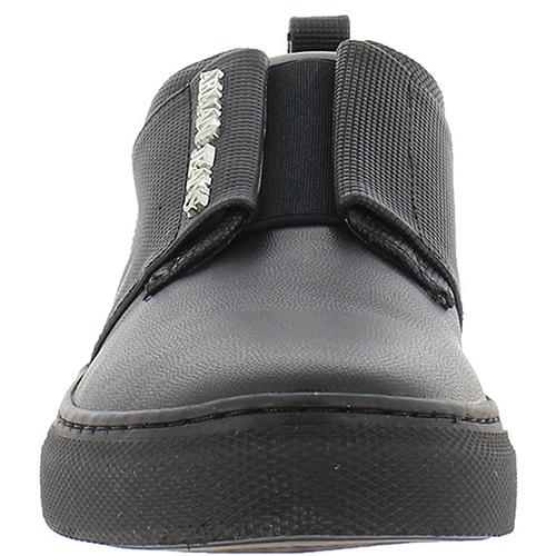 Черные кожаные слипоны Armani Jeans на резинке, фото