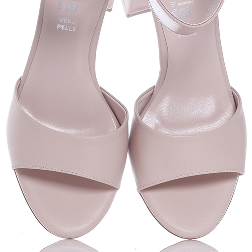 Пудровые босоножки Nila&Nila на устойчивом каблуке, фото