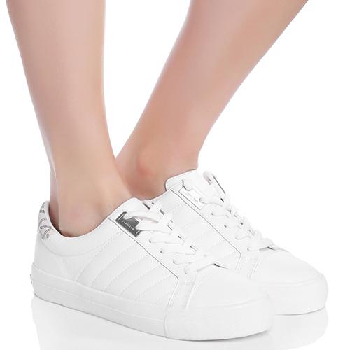 Белые кеды Calvin Klein из мягкой кожи, фото