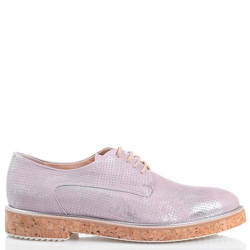 Розовые туфли с серебристым блеском Redwood на толстой подошве, фото
