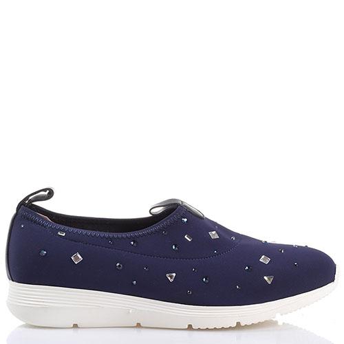 Текстильные кроссовки без шнуровки Redwood синего цвета, фото