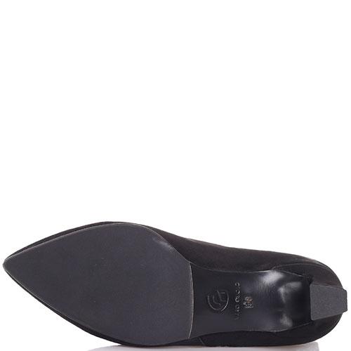 Замшевые ботильоны Gianni Famoso черного цвета на маленьком каблуке, фото