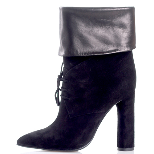 Замшевые сапоги Gianni Famoso на шнуровке, фото