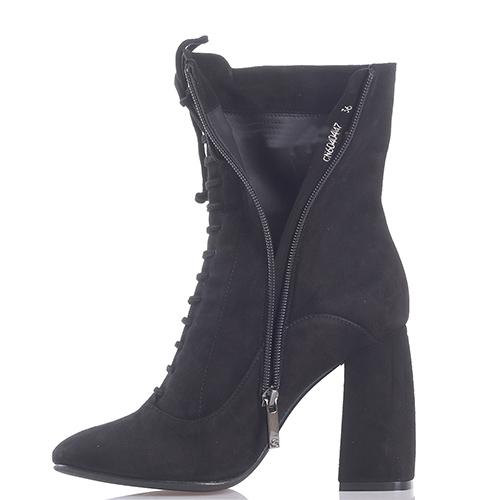 Черные сапоги Gianni Famoso с декором-шнуровкой, фото