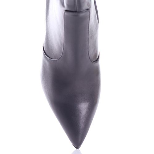Ботильоны Gianni Famoso с металлическим декором на каблуке, фото