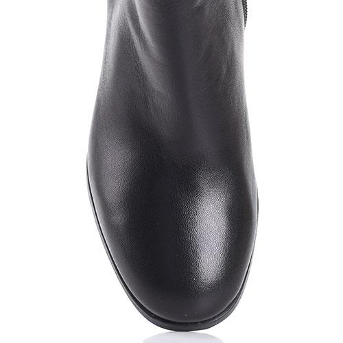 Ботфорты Gianni Famoso из гладкой кожи черного цвета, фото
