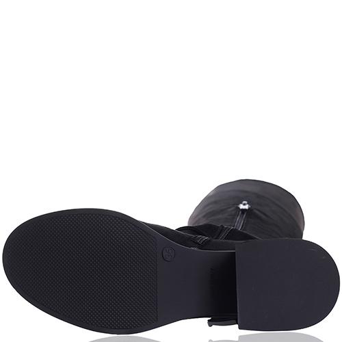 Черные ботфорты Gianni Famoso с декором-ремешками, фото