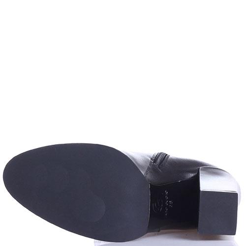 Черные кожаные сапоги Gianni Famoso на высоком каблуке, фото