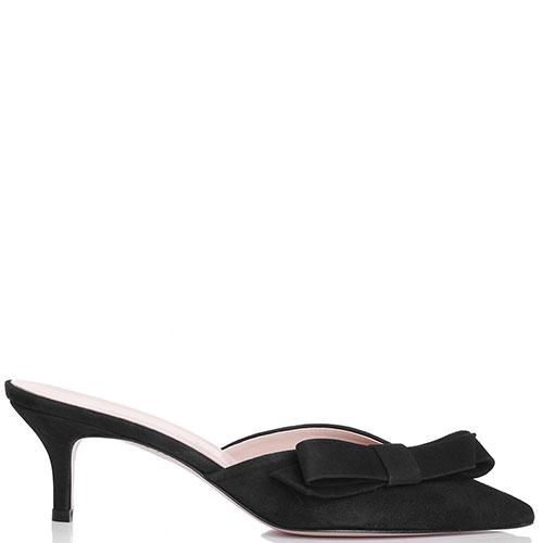 Замшевые черные мюли Bianca Di с острым носком, фото