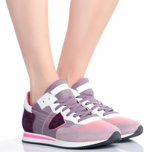 Спортивные кроссовки Philippe Model с замшевыми вставками, фото