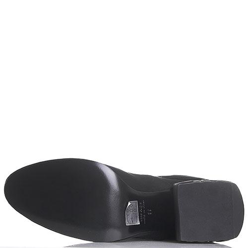 Черные замшевые ботфорты Strategia на устойчивом каблуке, фото