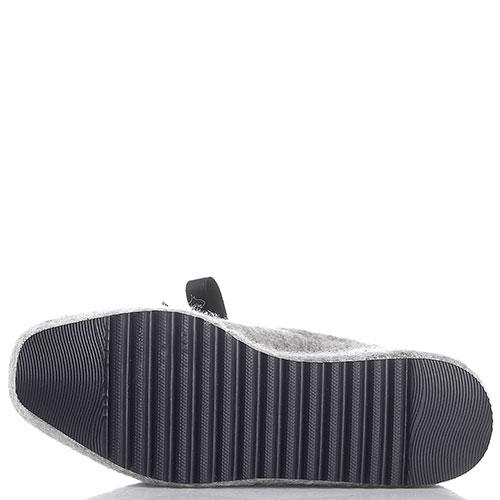 Серые женские туфли Baldan на высокой подошве, фото