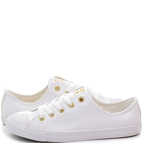 Низкие кеды Converse Chuck Taylor All Star Dainty белого цвета, фото