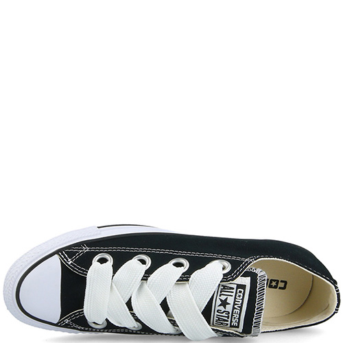 Кеды Converse Chuck Taylor All Star Big Eyelets Ox черного цвета , фото