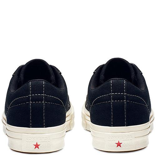 Темно-синие кеды Converse One Star Sunbaked с белой подошвой, фото