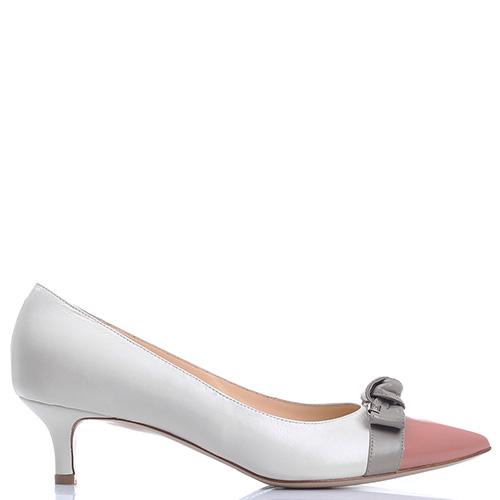 Белые туфли Dyva с острым носком и бантом, фото