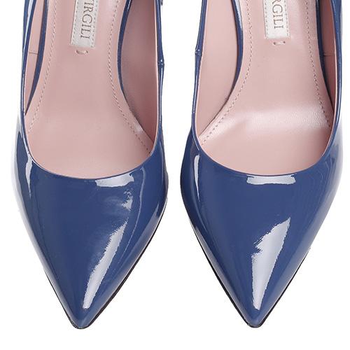 Синие туфли-лодочки Vittorio Virgili из лакированной кожи, фото