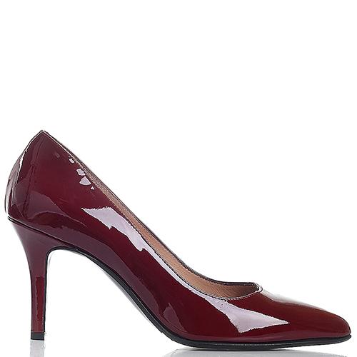 Туфли Toujours by Pas De Rouge с лаковым блеском бордового цвета, фото