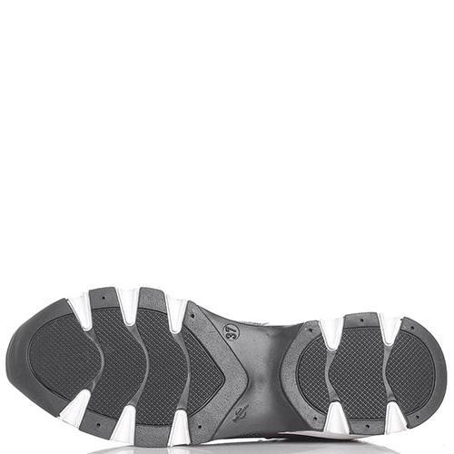 Серебристые кроссовки Helena Soretti на рельефной подошве, фото