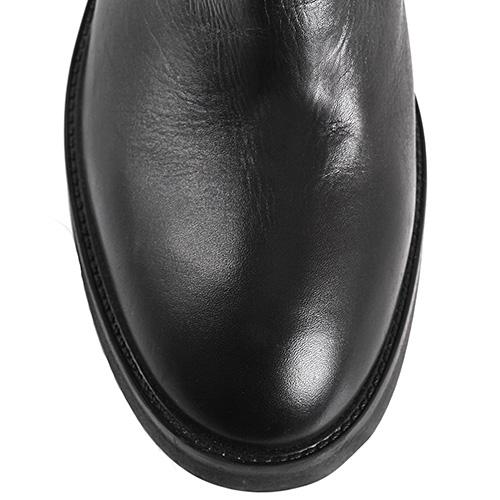 a5b93b2c2 Зимние сапоги-ботфорты Fru.It Now из стрейч-замши на среднем толстом каблуке