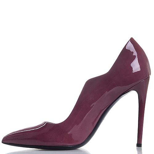 Туфли Gianmarco Lorenzi из лаковой кожи цвета портвейн, фото