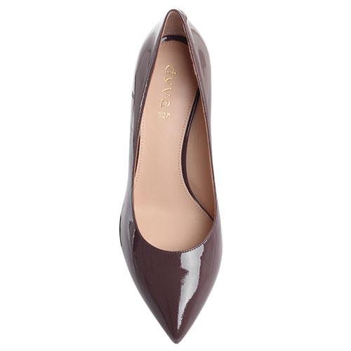 Лаковые туфли Dyva с острым носочком коричневого цвета, фото