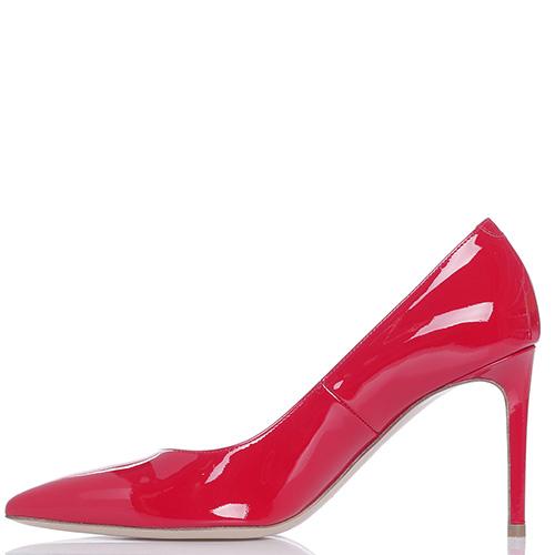 Лаковые туфли Dyva из кожи красного цвета, фото