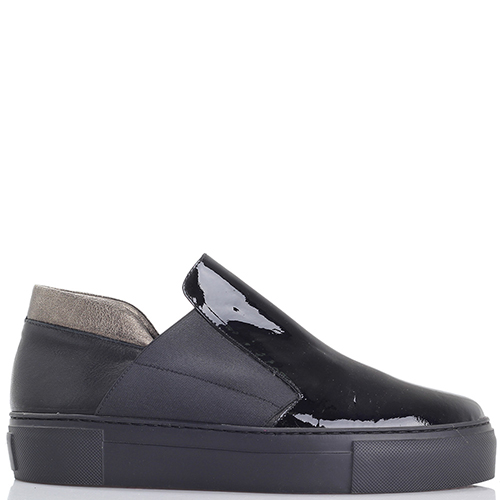 Туфли Laura Bellariva из кожи черного цвета на платформе, фото