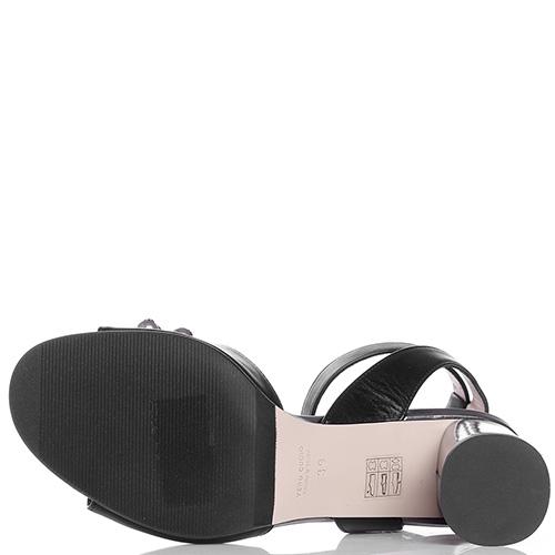 Черные босоножки Fabio Di Luna с ремешком на щиколотке, фото