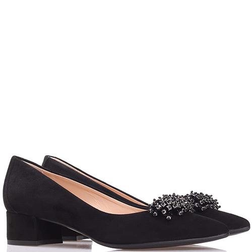 Туфли Fabio Di Luna черного цвета со стразами, фото