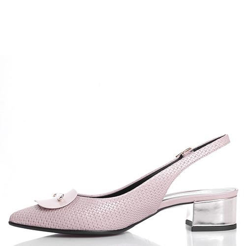 Розовые слингбеки Fabio Di Luna с тиснением на коже, фото