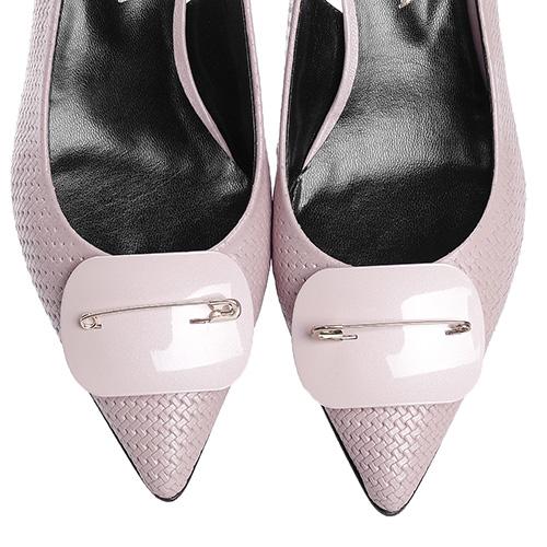 Розовые босоножки Fabio Di Luna с тиснением на коже, фото