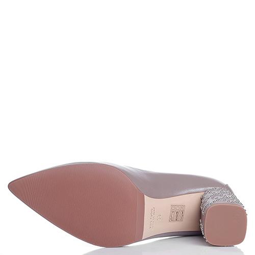 Лодочки Fabio Di Luna с декором-заклепками на каблуке, фото