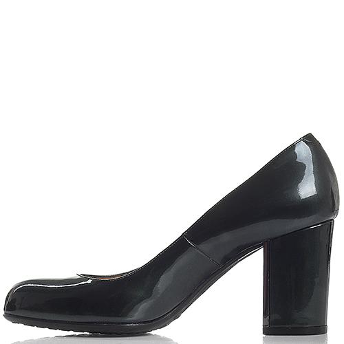 Туфли из лаковой кожи Nando Muzi на устойчивом каблуке, фото