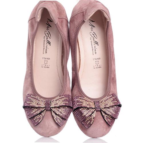 Балетки Gianni Renzi Miss Ballerina с декором в виде банта, фото